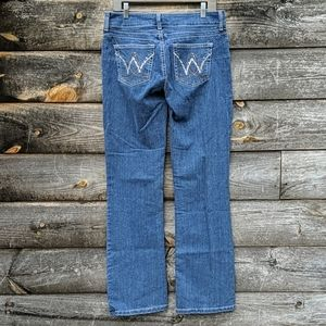 Wrangler Bedazzled Boot Cut Stretch Blue Jeans